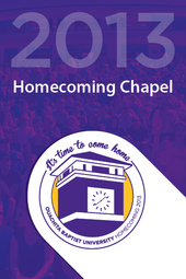 Homecoming Chapel – Oct. 8, 2013