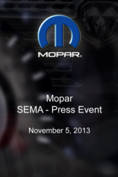 Mopar - SEMA Press Event