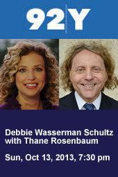 Debbie Wasserman Schultz with Thane Rosenbaum
