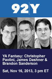 YA Fantasy: Christopher Paolini, James Dashner & Brandon Sanderson