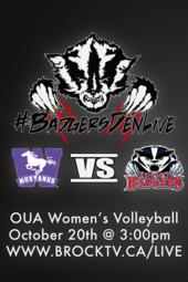 Badgers Den Live Women's Volleyball: Brock Badgers vs. Western Mustangs