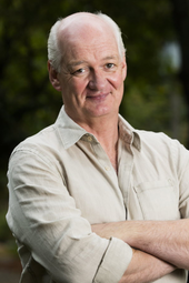 Comedian Colin Mochrie in the News Café