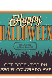 Grass It Up with some special guests - Happy Halloween!