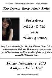 Dayton Fortepiano Masterclass