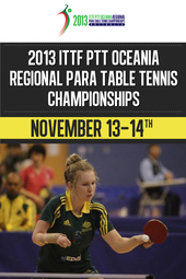 2013 ITTF PTT Oceania Regional Para TT Championships