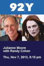Julianne Moore with Randy Cohen