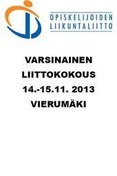 OLL Liittokokous 14.-15.11.2013