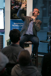 Astronaut Chris Hadfield at the News Café