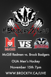 Men's Hockey vs. McGill