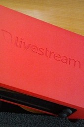 livestream broadcaster - in hand