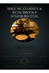 Mike McAtamney and Ryan Brock Junior Recital