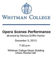 Opera Scenes Performance December 2013