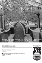 2013 Winter Doctorate, Specialist, and Masters Ceremony