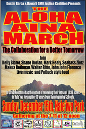 Aloha Aina March Against Monsanto