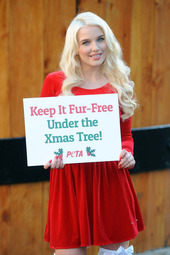 Helen Flanagan live for PETA in London