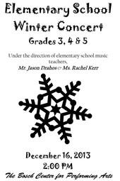 ES Concert Grades 3-5