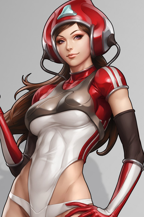 3d sci fi hentai babe in a skin tight catsuit 5