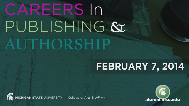 livestream cover image for Careers in Publishing and Authorship