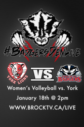 Women's Volleyball vs York