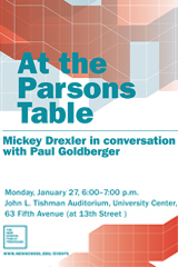 At the Parsons Table: Mickey Drexler with Paul Goldberger