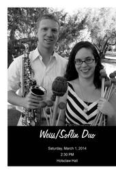 Weiss Soflin Duo Recital / Percussion and Saxophone