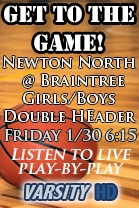 Newton North @ Braintree Boys Hoops