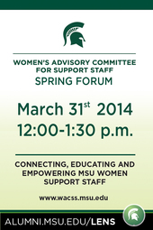Women's Advisory Committee for Support Staff Spring Forum