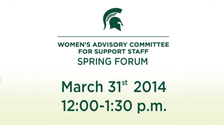 livestream cover image for Women's Advisory Committee for Support Staff Spring Forum