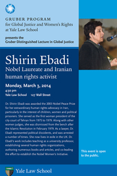 Gruber Distinguished Lecture in Global Justice: Dr. Shirin Ebadi