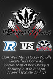 Men's Hockey PLAYOFFS vs. Ryerson