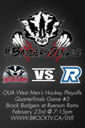 Men's Hockey PLAYOFFS at Ryerson (if necessary)