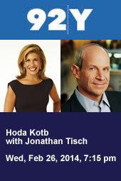 Hoda Kotb with Jonathan Tisch