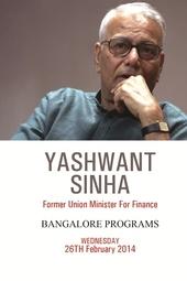 Sri Yashwant Sinha's programs LIVE WEBCAST