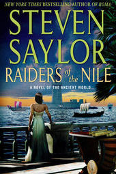 Steven Saylor signs THE RAIDERS OF THE NILE
