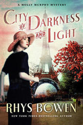 Rhys Bowen signs CITY OF DARKNESS AND LIGHT, a Molly Murphy mystery