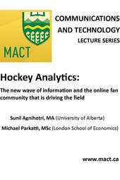 Communications and Technology Lecture - Hockey Analytics