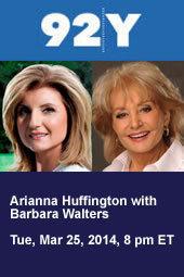 Arianna Huffington with Barbara Walters