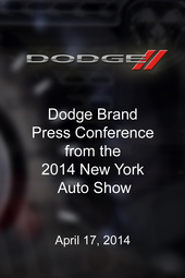Dodge Press Conference - New York Auto Show