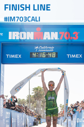 Finish Line - accenture IRONMAN 70.3 California