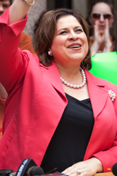 Leticia Van De Putte: Supporter Rally at U.T. Austin