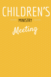 Children's Ministry Luncheon