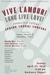 CC Chamber Choir Concert 4-27-2014