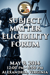 Subject Matter Eligibility Forum