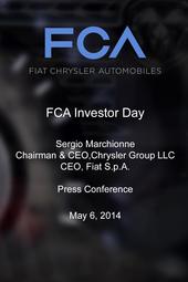 Sergio Marchionne - Investor Day Press Conference