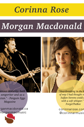 Corinna Rose & Morgan MacDonald live at Streaming Cafe