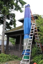 Log House Museum totem-pole unveiling
