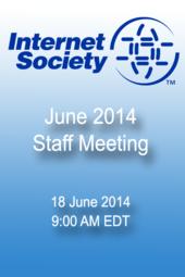 June 2014 Staff Meeting