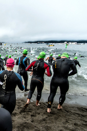 Swim Finish - IRONMAN Coeur d'Alene