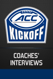 ACC KICKOFF: COACHES' INTERVIEWS