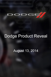 Dodge Product Reveal